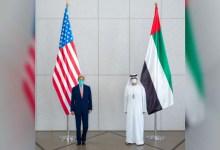 """صورة وكالة أنباء الإمارات – مبعوث الإمارات للتغيّر المناخي يبحث مع نظيره الأمريكي تعزيز العمل المناخي قبل انعقاد مؤتمر """"COP26"""""""