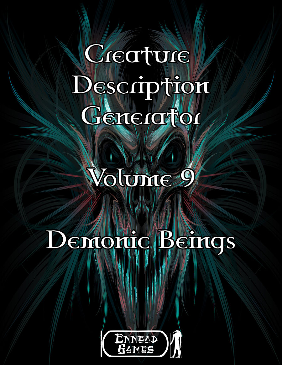 pdf creature description generator volume 9 demonic beings