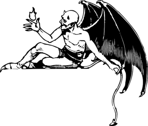 Devil Demon Satan Reclining Evil  - Clker-Free-Vector-Images / Pixabay