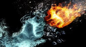 Fire And Water Hands Fight Fire  - thommas68 / Pixabay