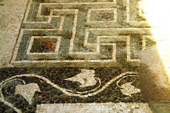 Mosaic. House of Ganymede. Morgantina, Sicily, Italy. 3CBC.