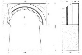 Σχέδιο τμήματος δωρικού κίονα (Broneer 1941)