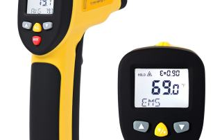 The eT1050D Infrared Thermometer with expanded temperature range up to 1922°F/1000°C is an excellent tool for high temperature automotive diagnostics. Also called a Laser Temperature Gun
