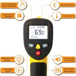 temperature gun et1050d dual laser infrared thermometer 58 to 1922