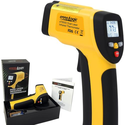et650d infrared thermometer ennologic temperature gun with gift set