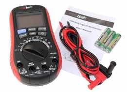 eM530S Digital Multimeter with Battery Tester package contents