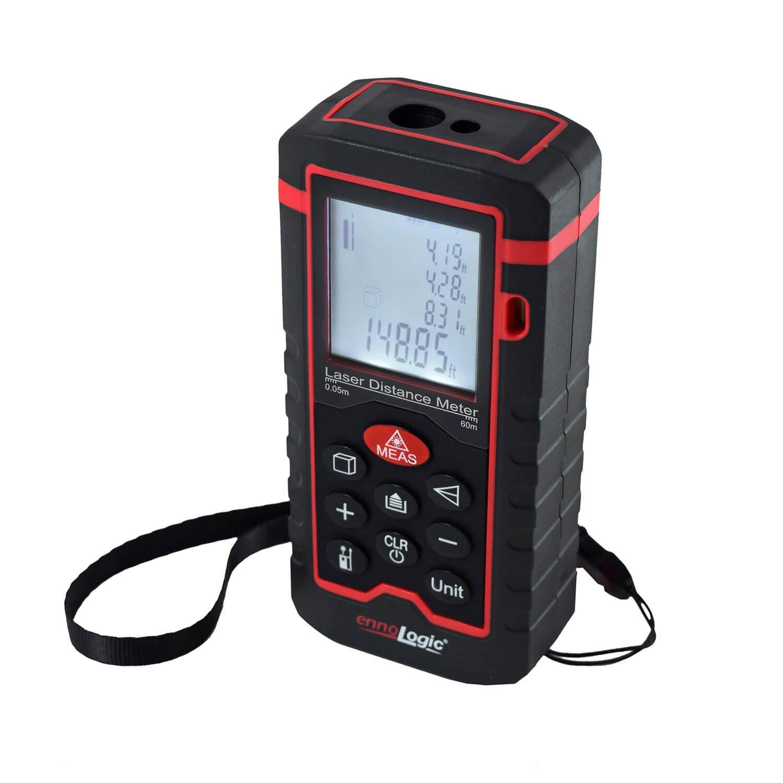 ennoLogic laser distance meter is an infrared tape measure. Laser Tape Measuring is easier than standard tape measures