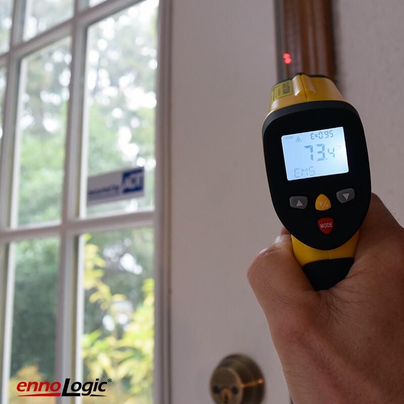 keeping out the cold with the ennoLogic IR thermometer