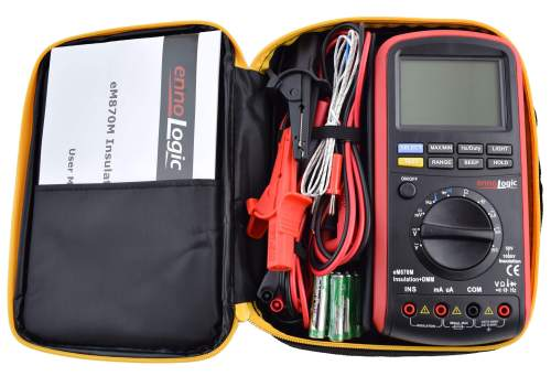 insulation tester megohmmeter with carrying case