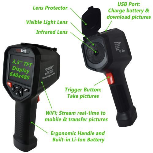Thermal Imager eT450C with user element descriptions