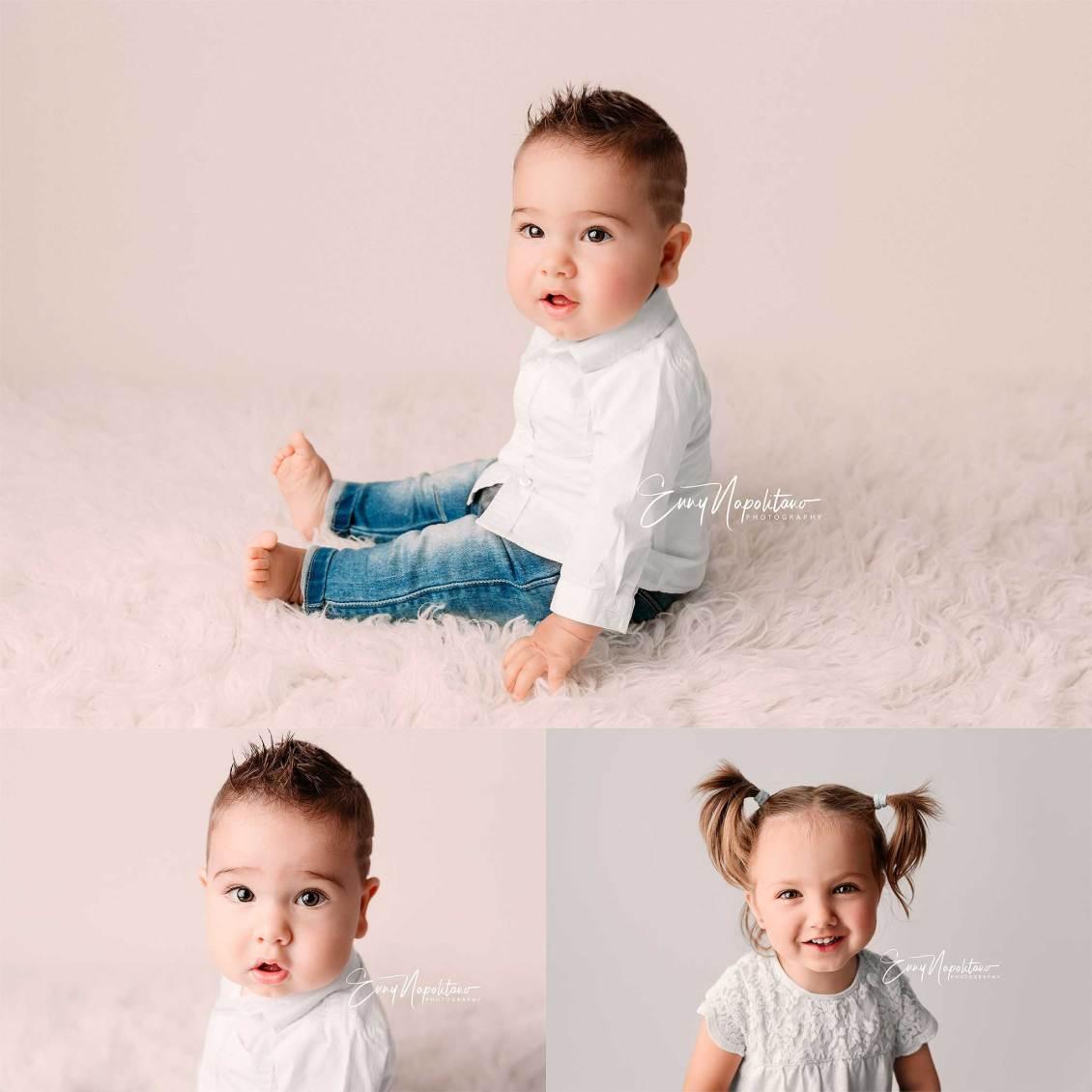 Fotografie di un bambino di 7 mesi servizio fotografico bimbi a Milano