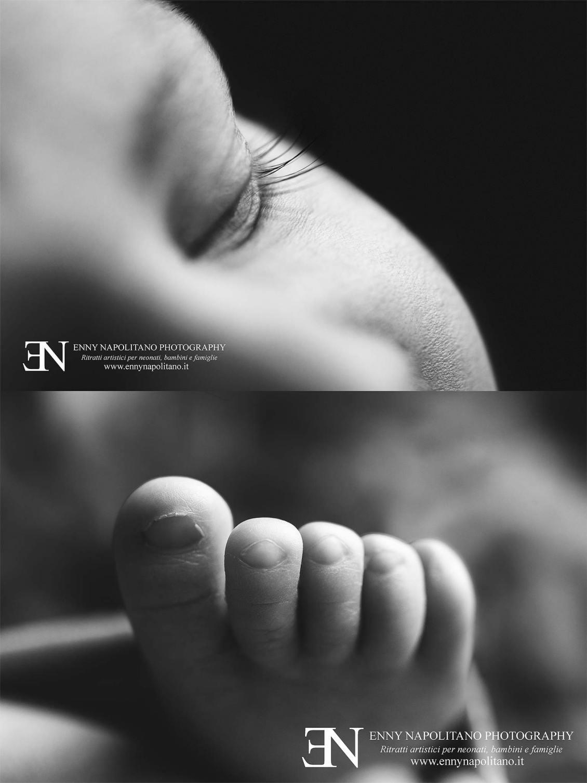 dettagli ciglia piedino macro neonato newborn