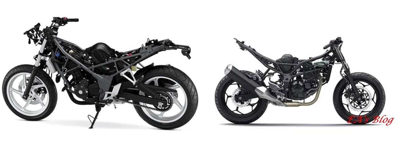 Honda New CBR250R 2014 vs Kawasaki Ninja RR Mono, Duel
