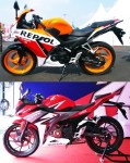 All New Honda CBR150R Facelift 2016 vs CBR Lokal K45A