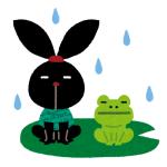 雨宿りする動物は数あれど…こいつが雨宿りしてるのははじめて見たww
