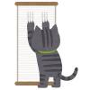 猫飼いあるある? 円形の「爪研ぎ」を長く使っていると…こんなものが出来上がるらしい🙀