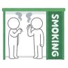 「よっぽど嫌いなんだな…」ある美大の喫煙ブースに貼られた皮肉たっぷりな貼り紙が話題にww