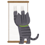「にゃんで!?」部屋の壁を使った爪研ぎを封じられた猫さんのリアクション🙀
