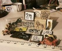 miniature art show about horses