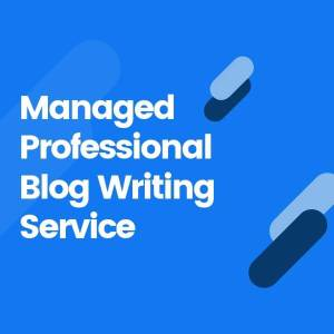 Managed Professional Blog Writing Service Product Image