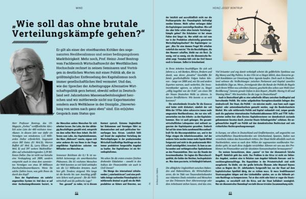 "Heinz-Josef Bontrup: ""Kapitalismus ist brutal!"""