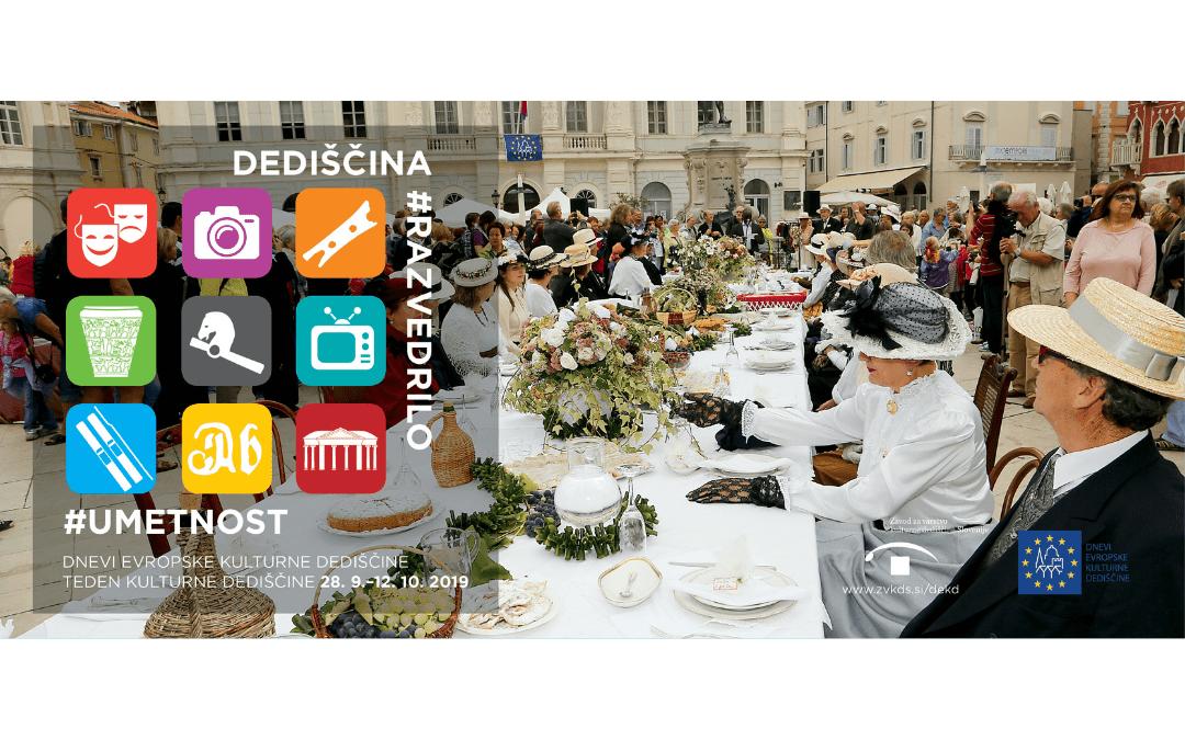 Dnevi evropske kulturne dediščine bodo letos v znamenju umetnosti in razvedrila