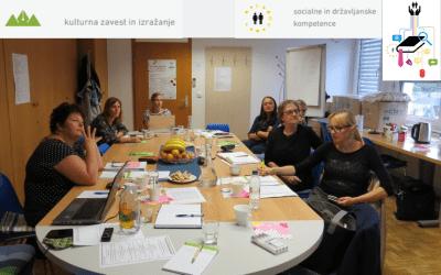 Tretje srečanje skupine za akcijsko raziskovanje v Centru za izobraževanje odraslih MOCIS v Slovenj Gradcu