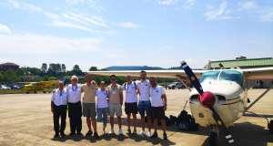 Çaılşma öncesi uçak çevresinde çekilmiş bir fotoğraf
