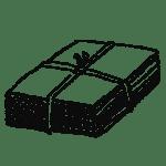 畳んだ段ボール・梱包材のフリーイラスト素材