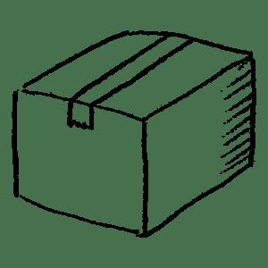段ボールのイラストフリー素材