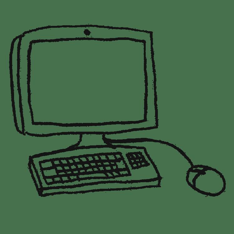 パソコンのイラストフリー素材