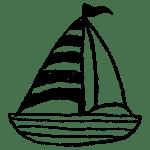 ヨットのイラストフリー素材