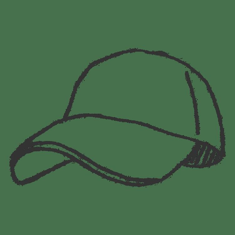 キャップ帽子のイラストフリー素材