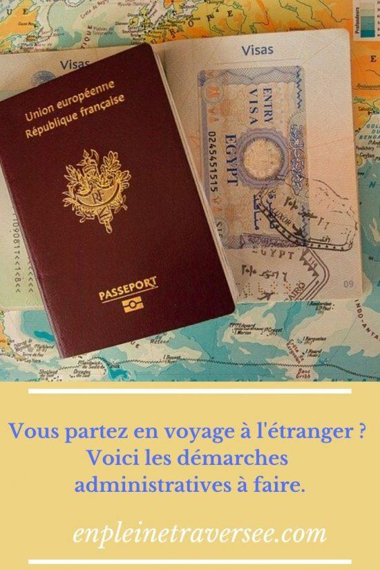 démarches administratives voyages étranger vacances coaching tourisme conseils