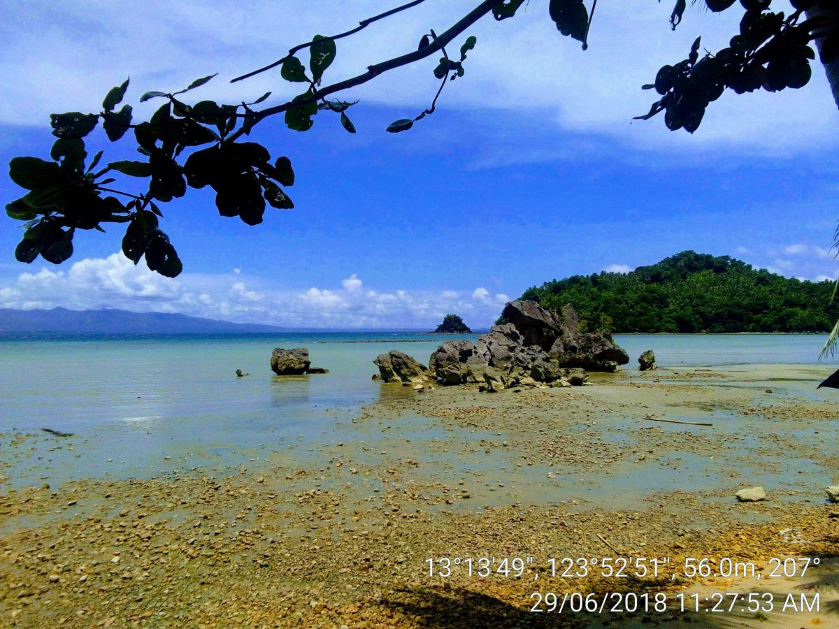 The beach of Barangay Mataas, Municipality of Bacacay
