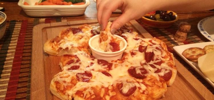 pizza para mojar