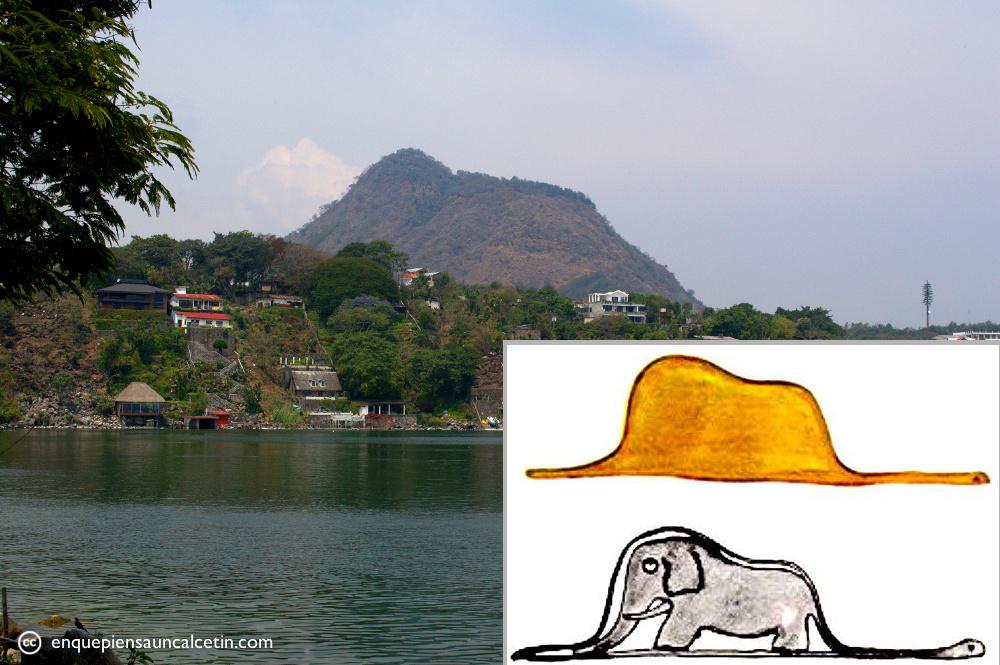 El Principito, el sombrero, la boa comiéndose un elefante, y el Cerro del Oro.