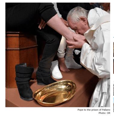 apostata bergoglio desobedeciendo la Escritura