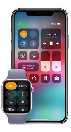 activar el modo avión en apple watch