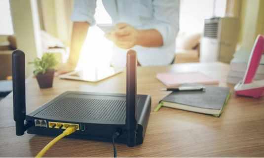 trabajando router