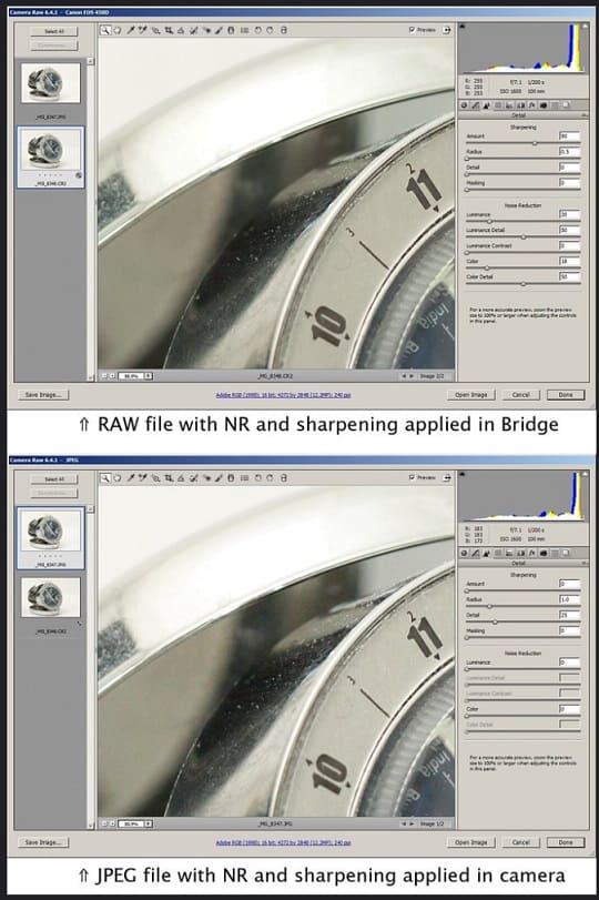 diferencias entre formato RAW y JPEG