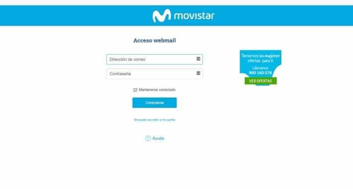 configurar correo web movistar