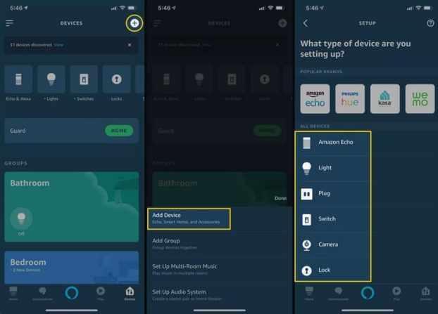 dispositivos conectados a Alexa
