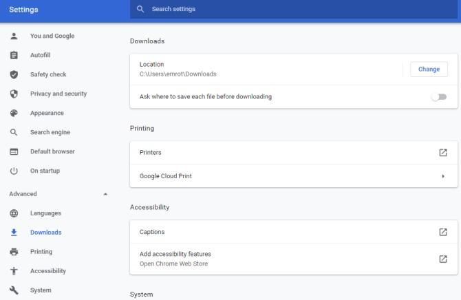 Move User Folders Chrome Downloads