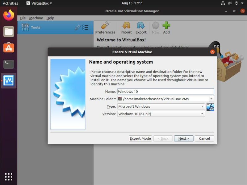 Windows On Vbox Create Vm