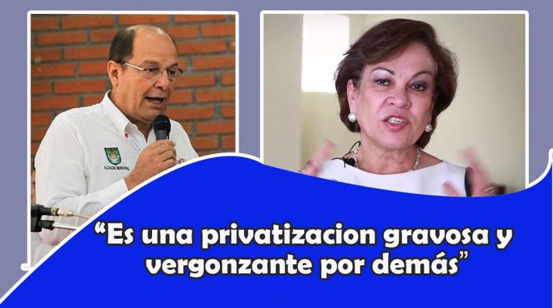 """""""Se trata de una privatización gravosa y vergonzante por demás"""""""