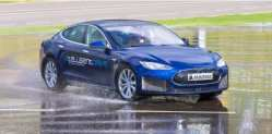 Magna Fits A Tesla  Model S With A Three Motor Electric Powertrain