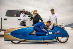 Gunning for 200 MPH on a 70 Year Old Triumph Motorcycle
