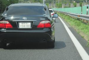 岐阜の高速で見たTV偽装型アンテナの覆面ゼロクラウン