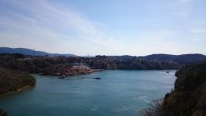 天界苑より恵那峡の眺め